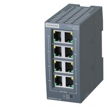 6GK5008-0BA10-1AB2 SCALANCE XB008 Unmanaged Industrial Ethernet Switch for 10/100 Mbit/s
