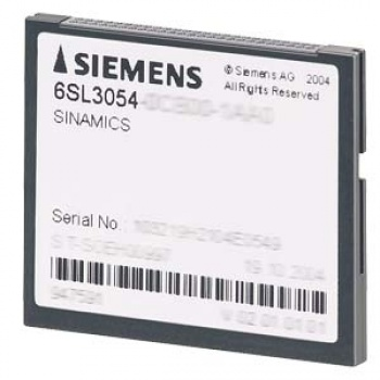 6SL3054-0FB01-1BA0 SINAMICS S120 COMPACTFLASH CARD WITH FIRMWARE OPTION PERFORMANCE-EXTENSION INCLUDING CERTIFICATE OF LICENCE V5.1