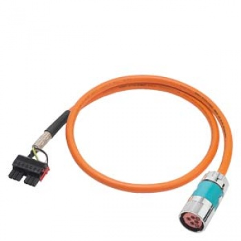 6FX5002-5DN46-1BG0 Power cable pre-assembled TYPE 6FX5002-5DN46 4X4, (2X1.5)C C CONNECTOR SPEED-CONNECT S. 1.5 FOR SINAMICS S120 BOOKSIZE MOTOR MO