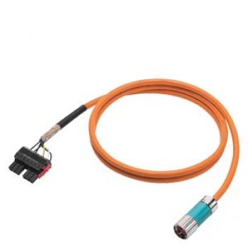 6FX8002-5DN06-1AE0 Power cable pre-assembled TYPE 6FX8002-5DN06 4X1,5 , (2X1.5)C C CONNECTOR SPEED-CONNECT SIZE 1 FOR SINAMICS S120 BOOKSIZE MOTOR